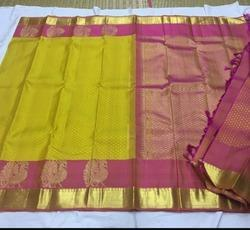 Pure Kanchipuram Silk Saree Annam Motifs Peacock Butta Sarees