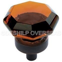 Metal Fitting Amber Knob