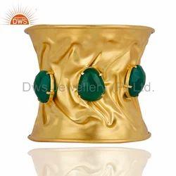 Handmade Gold Plated Cuff Bracelet