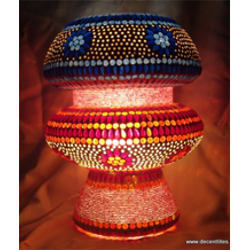 Glass Lamp Mosaic Work