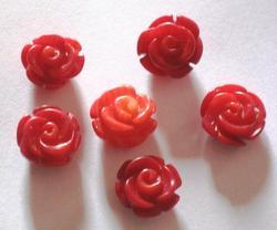 Coral Carved Flowers