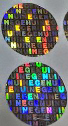 Genuine Hologram Labels
