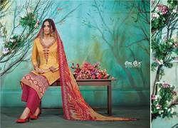 Gorgeous Looking Heavy Designer Cotton Suit