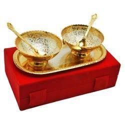 Brass Gold Plated Bowl Set