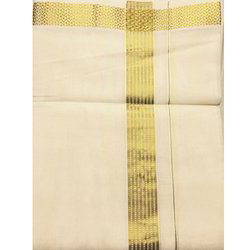 Warrior Dothis and Angavasthra - Cotton and Art Silk Dhoti