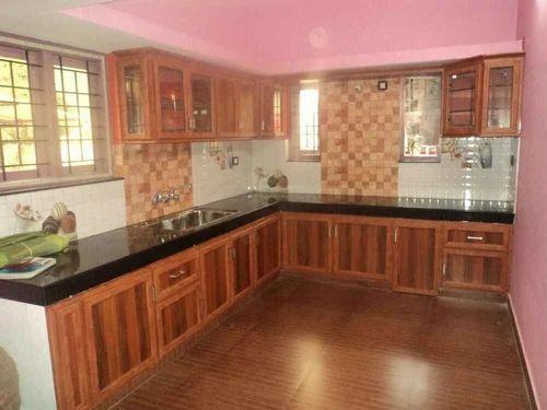 Wooden Type Aluminium Kitchen Cupboard - New Alumin Palace