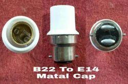Lamp Adapter B22 To E14 Metal Cap