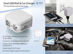 Dual USB Wall & Car Charger