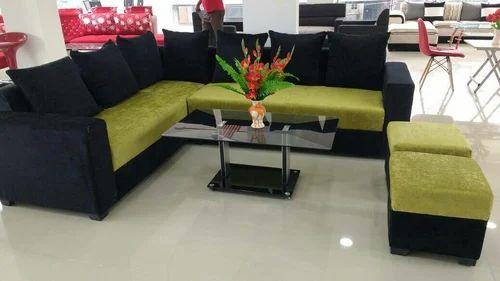 Green And Black Sofa Set