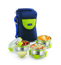 Magnus Comfy Lunch Box With Three Containers Vertical Type