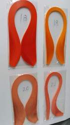 Orange Colored Quilling Paper Strips In Size 3 And 5 Mm
