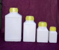 Rectangle Shape HDPE Bottle with MC, Inner Plug & IS Caps