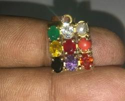 Multicolor Navratan Pendant