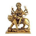 Brass Made Ambe Mataji Murti Decorative Idols Religious