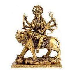 Brass Made Ambe Mataji Murti Decorative Idols Religious