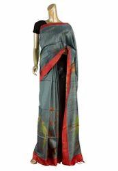 Handloom Silk Hand Painted Saree