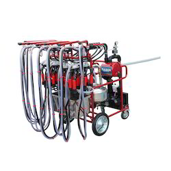 Mobile Milking Parlour System With 8 Claws Auto Wash