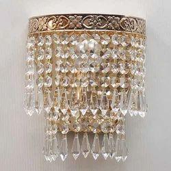 Gold Crystal Bead Single Wall Lights
