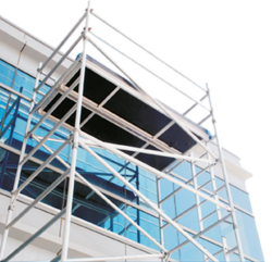 Double width aluminium mobile tower scaffolding with - Exterior scaffolding rental near me ...