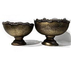 Smokey Finished Hammered Punch Bowls