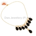 Black Onyx Gemstone Fashion Necklace
