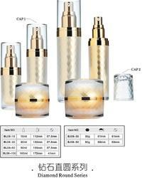 Acrylic Lotion Bottles Golden with Diamond Cap 30 and 60 ML
