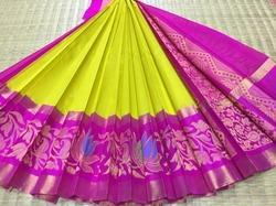 Kuppadam Silk Cotton Turning Border Sarees
