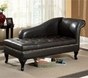French Black Storage Chaise