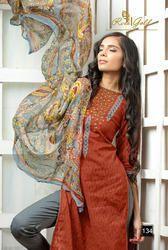 Cotton Jacquard Printed Designer Suit