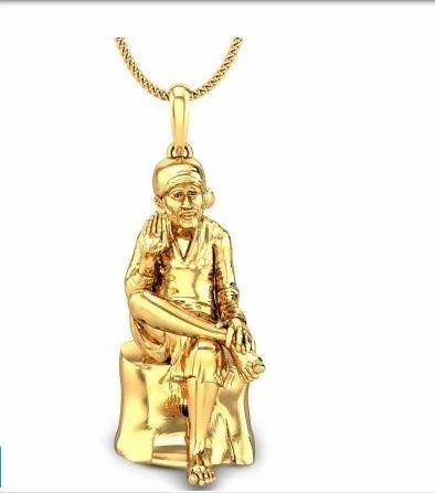 Mens gold pendants sai baba gold pendant manufacturer from mumbai sai baba gold pendant mozeypictures Choice Image