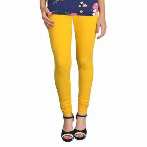 Yellow Women Leggings