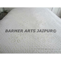 Cotton Cutwork Hand Made Bed Cover