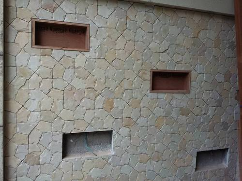Sandstone Elevation Tiles : Boundary wall decorative natural stone tiles at rs