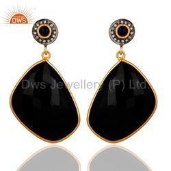 Black Onyx Gemstone Fashion Earrings