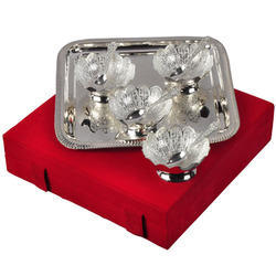 Silver Plated Bowl & Spoon Gift Set