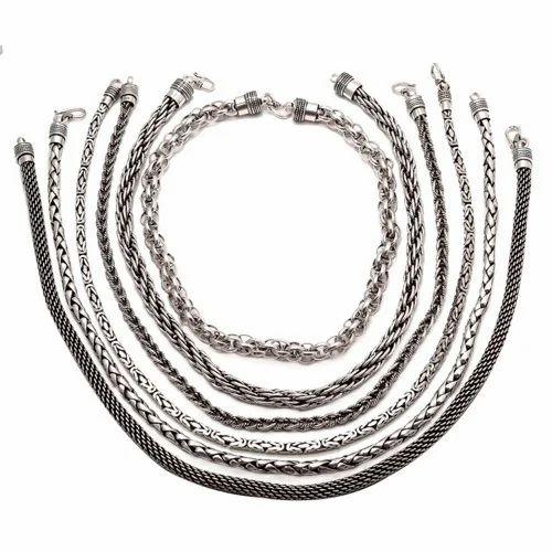 Hand Made Silver Plain Chains