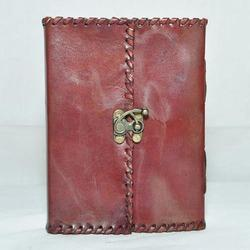 Junkyard Leather Journal Diary With Handmade Paper- Envy