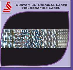 3D Promotional Laser Hologram Label Stickers