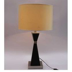 Black and Beige Metal Table Lamp