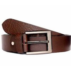 Casual Reddish Brown Leather Belt