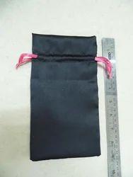 Black Drawstring Bags Made In Custom Sizes