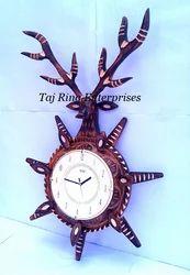 Wooden Deer Head Clock