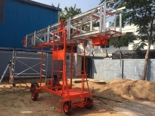 Aluminum Tiltable Mobile Tower Ladder