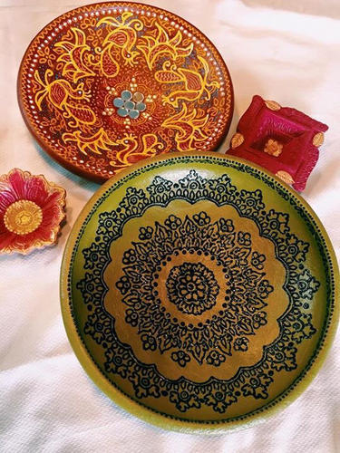 Hand Painted Terracotta Plates & Terracotta Plates - Hand Painted Terracotta Plates Manufacturer from ...