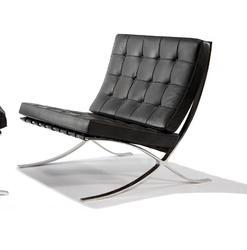 Barcelona Leather Lounge Chairs