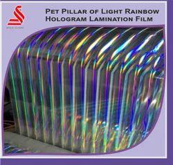 Holographic Pet Pillar of Light Rainbow lamination Films