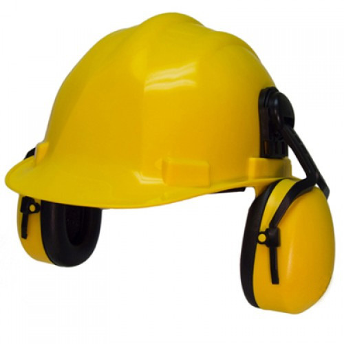 Safety Helmet with Ear Muff
