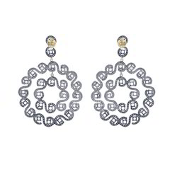 Round Diamond Pave Earrings Jewelry