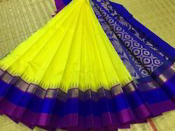 Kuppadam Silk Cotton Korvai Temple Border Sarees