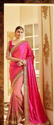 Pink Half And Half Sarees